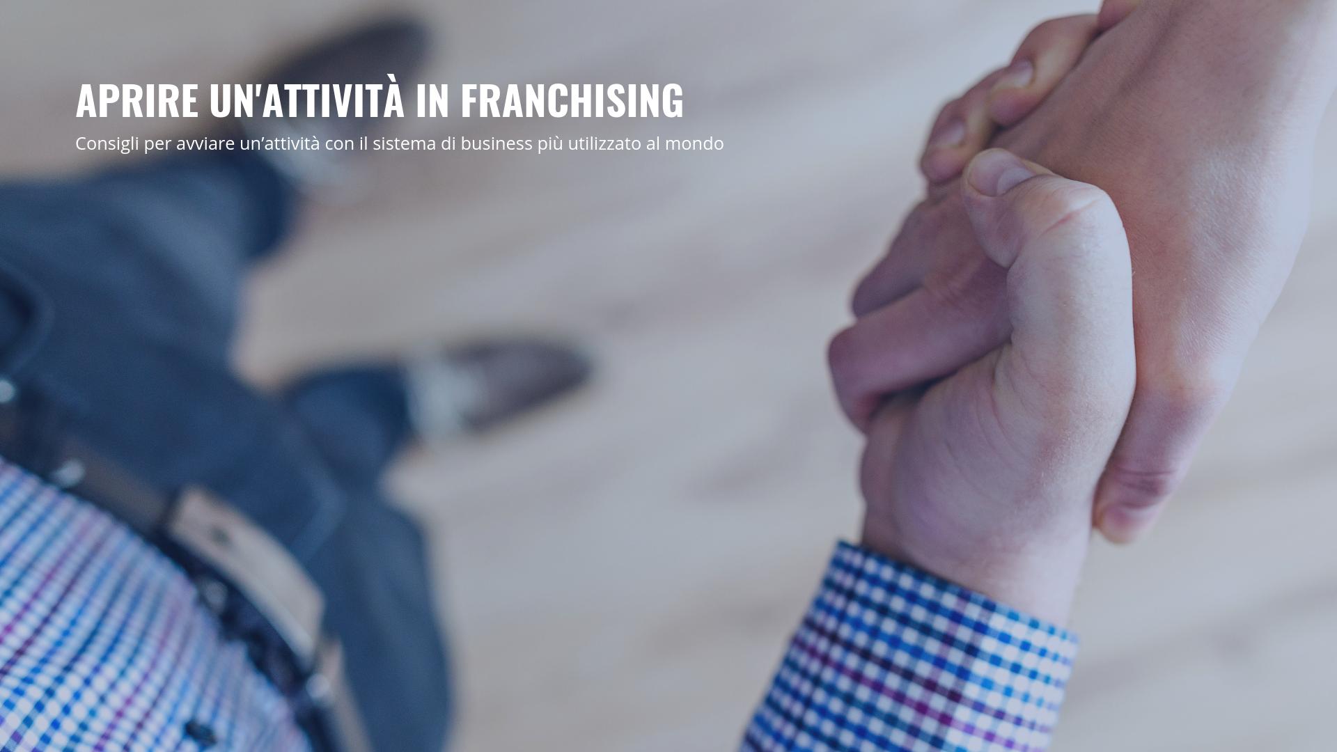 Aprire attività franchising