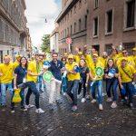 Mister Lavaggio a Roma per la salvaguardia dell'ambiente