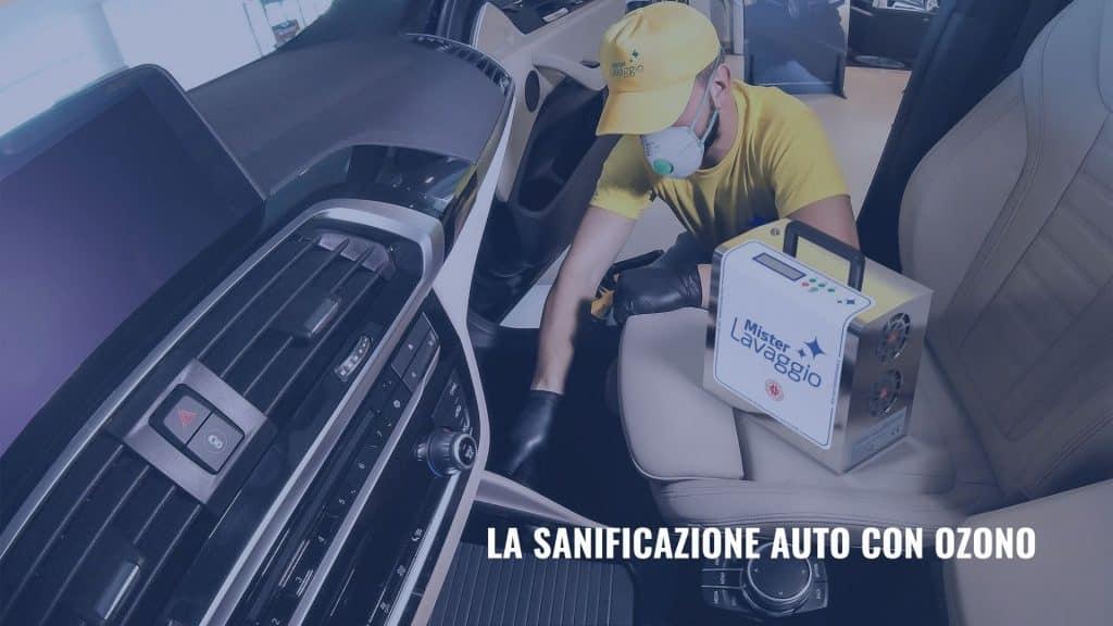 sanificazione auto con ozono mister lavaggio